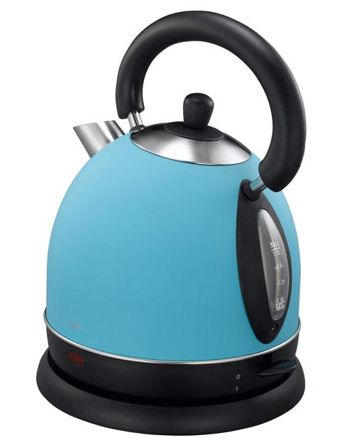 british style edelstahl wasserkocher blau 2000 watt 1 8. Black Bedroom Furniture Sets. Home Design Ideas